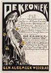 Raambiljet - De Kroniek - Een algemeen weekblad, ontwerp: Theo van Hoytema (1895)