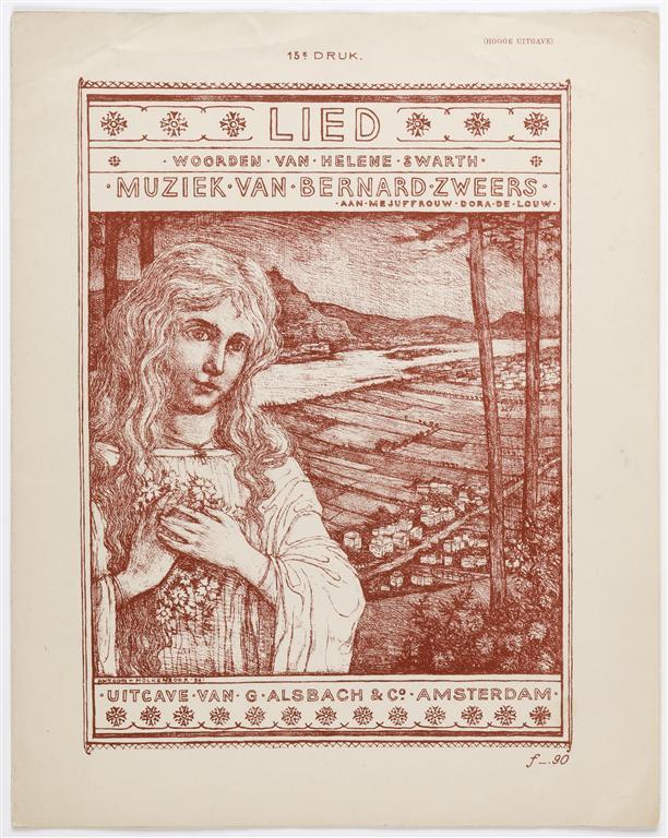 Muziekblad - Lied, omslagontwerp: Antoon Molkenboer (1897)