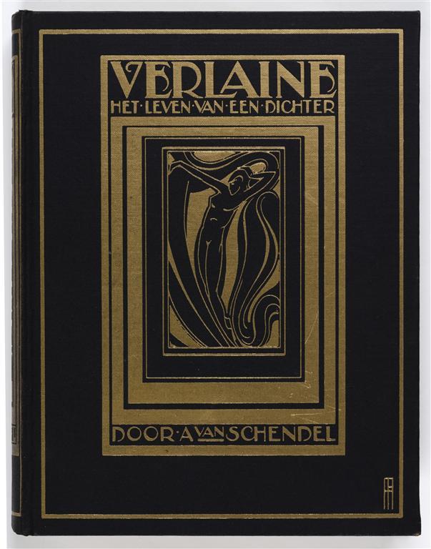 Verlaine - Het leven van een dichter door A. van Schendel, bandontwerp: Pieter Hofman (1927)