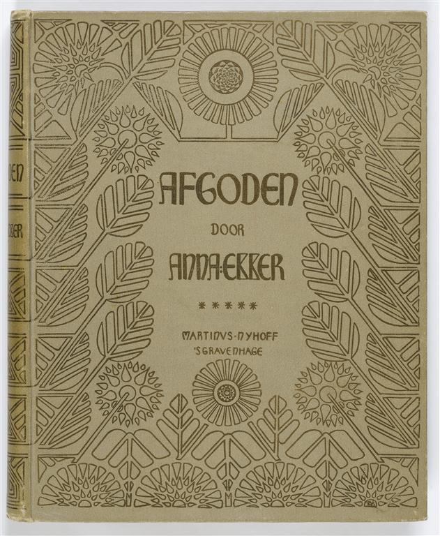 Afgoden – Anna Dekker, bandontwerp: Emilie van Kerckhoff (1897)