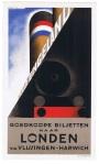 Kleine litho van affiche - Goedkoope biljetten naar Londen (…), omslagontwerp: A.M. Cassandre (1928)