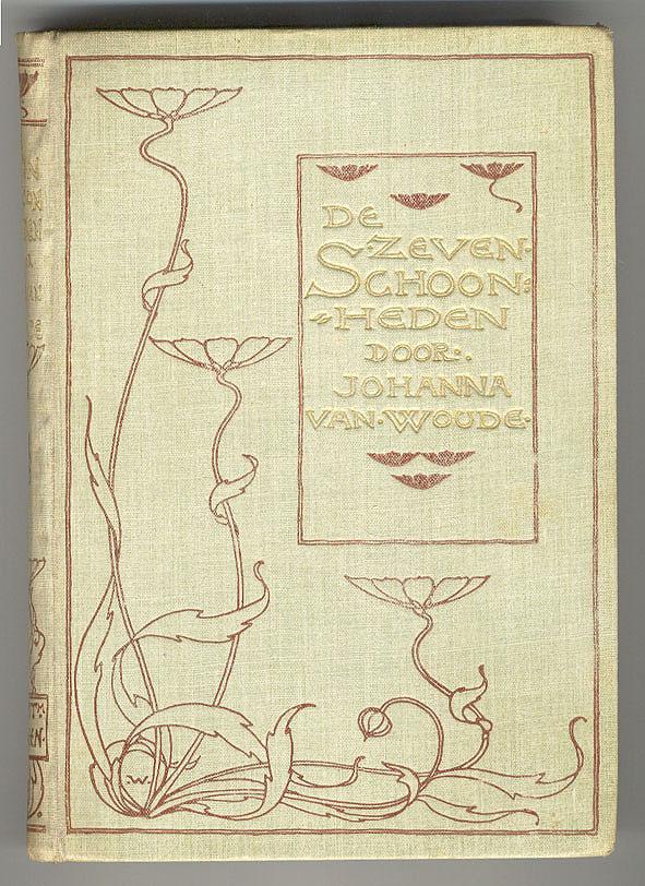 De zeven schoonheden - Johanna van Woude, bandontwerp: Willem Wenckebach (1897)