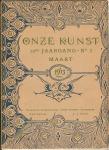 Tijdschrift - Onze Kunst (1913), omslagontwerp: Gerrit Willem Dijsselhof