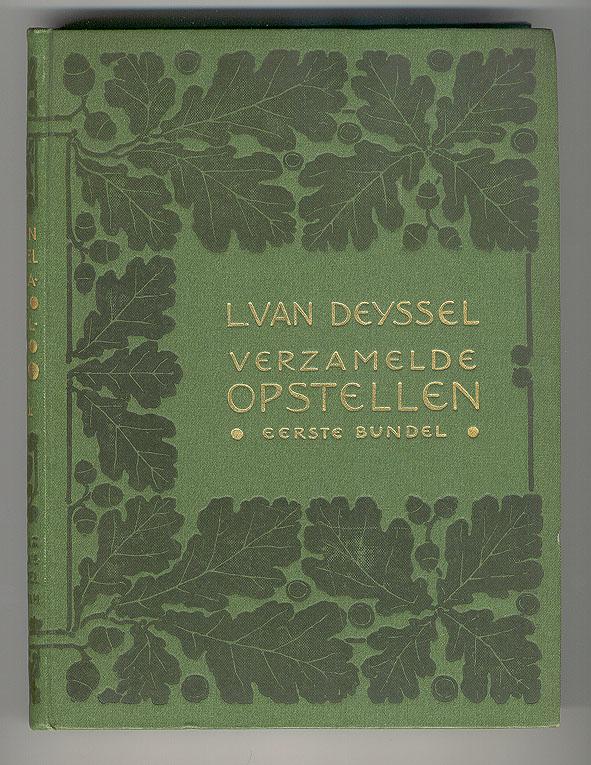 Lodewijk van Deyssel - Verzamelde opstellen, bandontwerp: Jan Bertus Heukelom (1899)