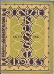 Tijdschrift - Onze Kunst (1905), omslagontwerp: Hendrik Petrus Berlage
