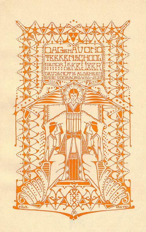 Art-nouveaudrukwerk voor het onderwijs