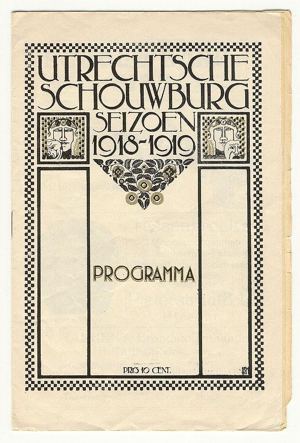 Programmaboekje - Utrechtsche Schouwburg (1918), ontwerper onbekend