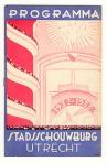 Programma Stadsschouwburg Utrecht, omslagontwerp: Henri Pieck (1932)