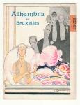 Programmaboekje - Alhambra de Bruxelles, omslagontwerp: Charles Gesmar (1924)