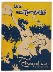 Programmaboekje - Le cabaret artistique 'Les Noctambules', omslagontwerp: Edouard Bernard (ca. 1907)