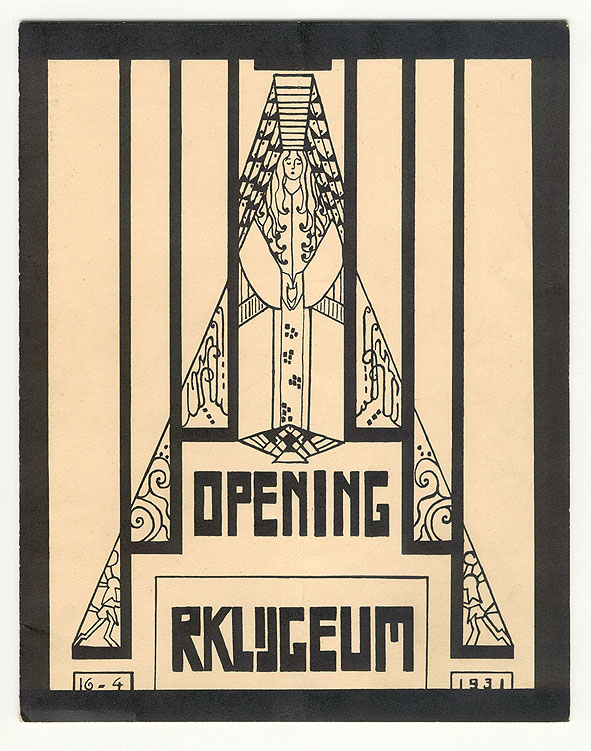 Programma - opening R.K. Lyceum voor meisjes in De Haag, omslagontwerp: G. Brunott (1931)