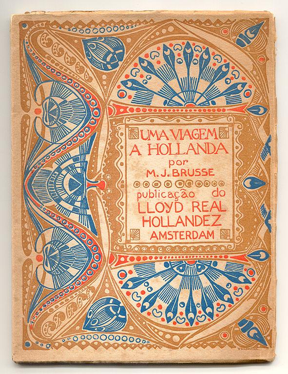 Reisgids - Uma viagem a Hollanda, omslagontwerp: Jacobus Gerardus Veldheer (1913)