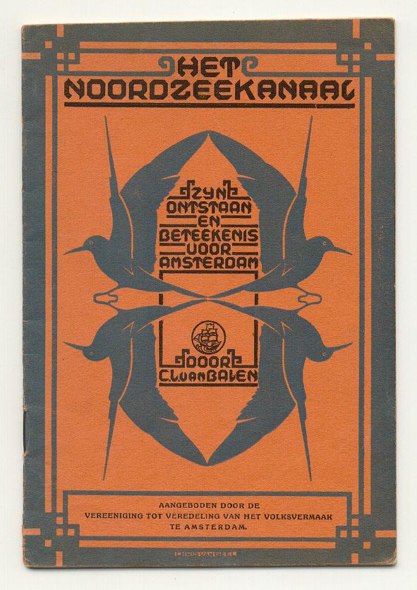 Folder - Het Noordzeekanaal, omslagontwerp: Chris van Geel (1926)