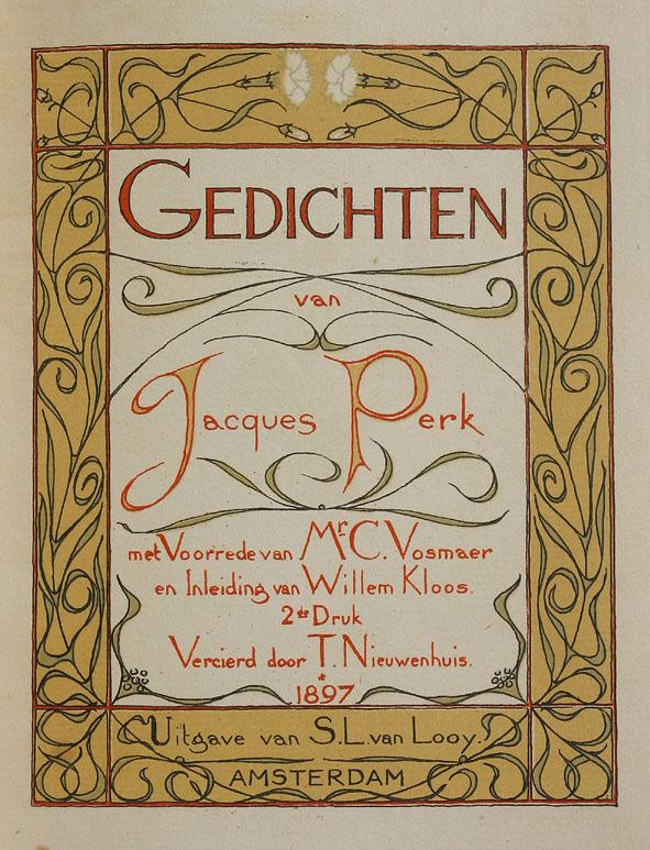 Titelpagina - Gedichten van Jaques Perk, Theo Nieuwenhuis (1897)