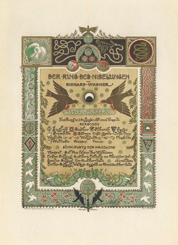 Programmablad Götterdämmerung - Die Ring des Nibelungen, ontwerp: Antoon Molkenboer (1902)