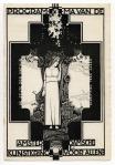 """Programma van de Amsterdamsche Kunstkring """"Voor Allen"""", omslagontwerp Nico van de Vecht (1922)"""