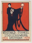 Programmaboekje - Vereenigd Tooneel - Stadsschouwburg Amsterdam, omslagontwerp: Rie Cramer (1928)