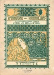 Muziekblad - Sterren en Heidelied, omslagontwerp: Antoon Molkenboer (1897)