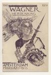 Programmaboekje - Wagner herdenking, omslagontwerp: Richard Roland Holst (1933)