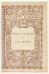 """Programma - Concert Directie """"De Algemeene Muziekhandel"""", omslagontwerp: Theo Neuhuys (ca. 1902)"""