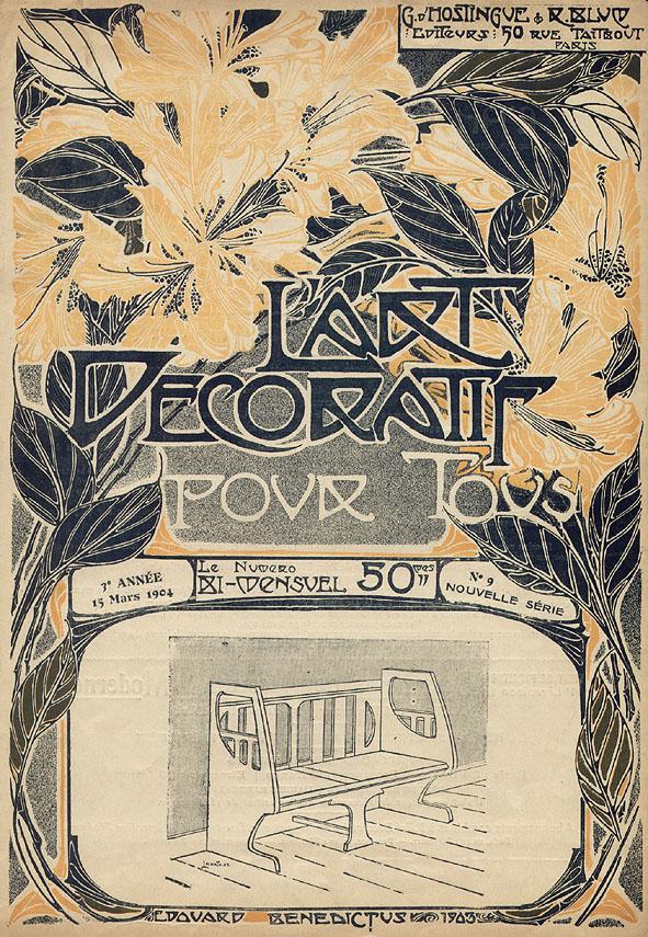 l'Art decoratif pour tous, omslagontwerp: Edouard Benedictus (1904)