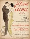 Muziekblad - Je vous aime... fox-trot, omslagontwerp: Marcel Vertès (1922)