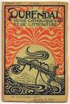 Durendal - Revue Catholique d'Art et de Litterature, omslagontwerp: Gisbert Combaz (1898)