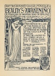 Inschijfformulier - The Art Workers Guilde Masque - Beauty's awakening (edition de luxe), ontwerp: Walter Crane (1899)