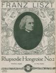 Muziekblad - Frans Liszt - Rhapsodie Hongroise no. 2, omslagontwerp: W. Dietrich (1914)