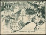 Muziekblad - Montmartre Suite de Valses, omslagontwerp: Théophile-Alexandre Steinlen (1897)