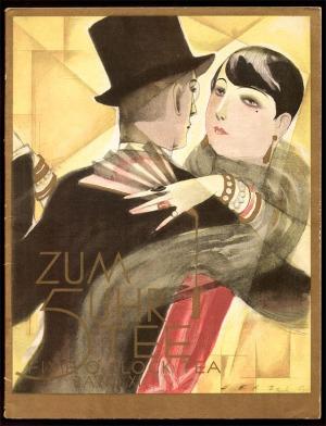 Muziekboek - Zum 5 Uhr Tee (Five O'Clock Tea), omslagontwerp: Willy Herzig (1922)