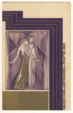 Programma Koninklijke Schouwburg 's Gravenhage, omslagontwerp: Pieter Hofman (1926)