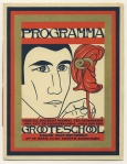 Programma Groote School - Feestuitvoering 600-jarig jubileum Gymnasium Erasmianum Rotterdam, ontwerp: Wim Brusse (1928)
