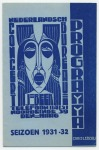 Programma - Nederlandsch Concertbureau J. Beek, omslagontwerp: Chris Lebeau (1931)
