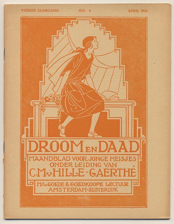 Droom en daad - 'Maandblad voor jonge meisjes', omslagontwerp: Bernardina Midderigh-Bokhorst (1926)