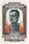 Flyer - Jan de Bakker Herdenking - Evangelische Maatschappij, ontwerp: Gerard Bergman (1925)