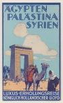Reisbrochure - Ägypten, Palästina, Syrien - Koninklijke Hollandsche Lloyd, ontwerp: Piet van der Hem (1931)