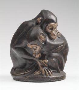 Twee aapjes van Joseph Mendes da Costa (foto: Kröller-Müller Museum)