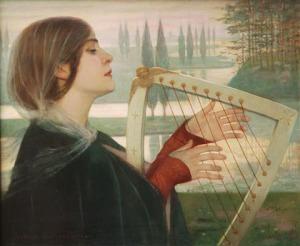 Heilige Caecilia met Lier door Antoon van Welie, 1899