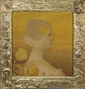 Portret van koningin Wilhelmina door Paul Berthon, 1901 (collectie Paleis het Loo)