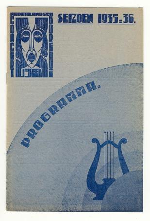 Programma Nederlandsch Concertbureau J. Beek, toegeschreven aan Chris Lebeau (1935)