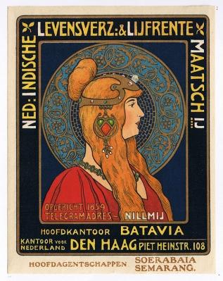 Reclame – Nederlands-Indische Levensverzekering en Lijfrente Maatschappij (Nillmij), ca. 1900-1905