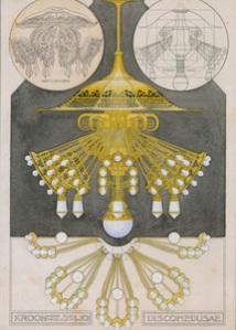 H.P. Berlage. Kroon voor een elekrisch licht. Ornamentmotieven en decoratieve voorwerpen naar voorbeeld van Kunstformen der Natur van Ernst Haeckel (Collectie NAi)