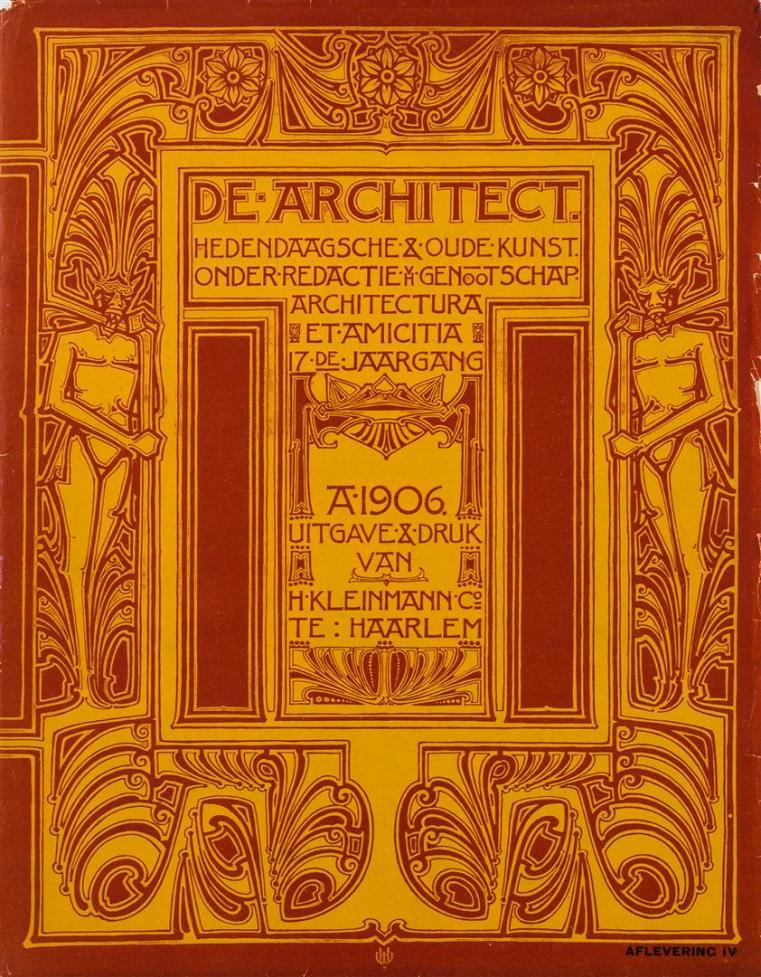 De Architect, omslagontwerp: Herman Walenkamp (1906)