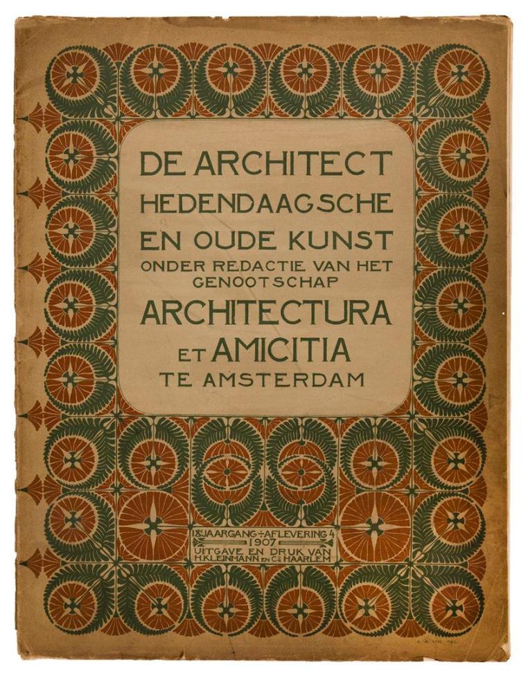 De Architect, omslagontwerp Abel Antoon Kok (1907)