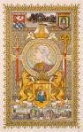 Kalenderplaat tentoonstelling Hollandsche klederdrachten - Drenthe, ontwerp: Tiete van der Laars (1898)