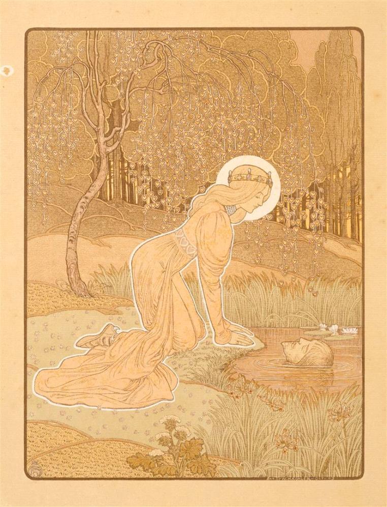 Prent XVIII uit Dat Liedekin van Heere Halewine, Henricus Jansen (1904)