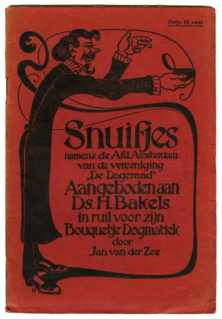 Snuifjes - Jan van der Zee, omslagontwerp: Albert Hahn sr (1909)