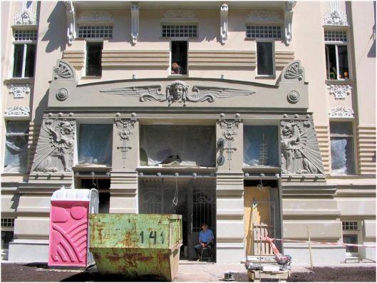 Restauratie van een art nouveau gebouw in Riga, Letland (foto: Jalf Flach)