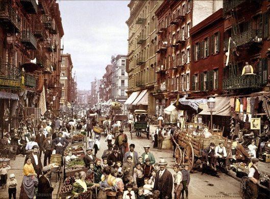 Volksbuurt New York circa 1900